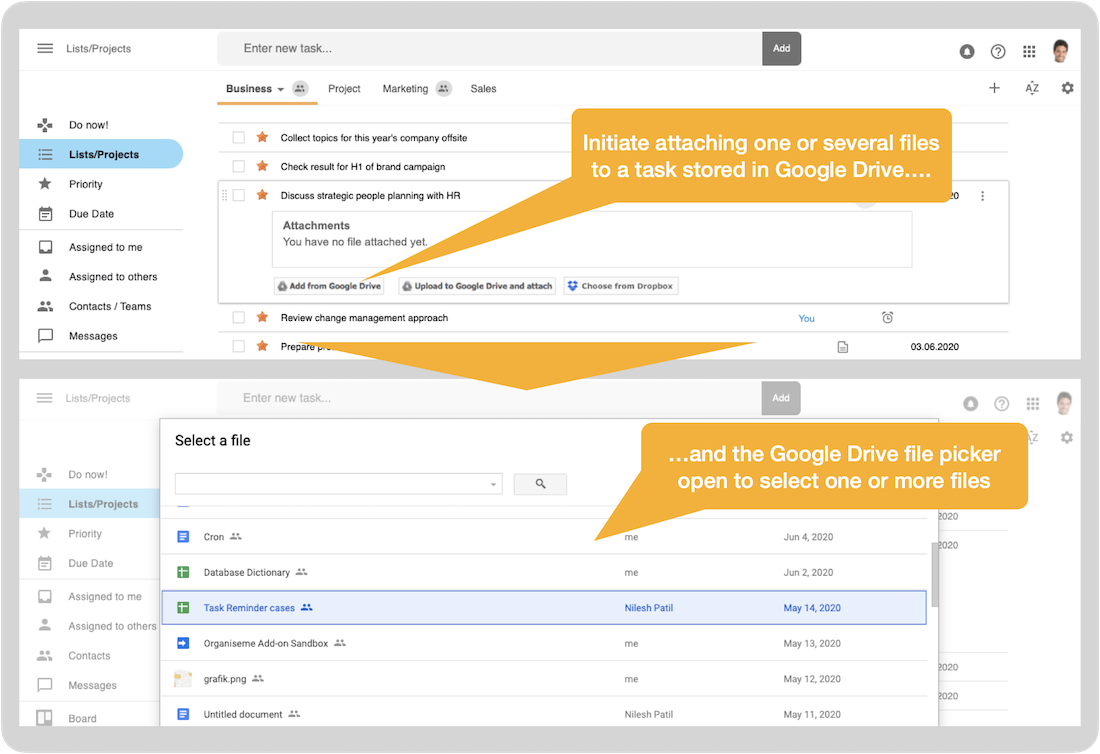 Integration with Google Drive