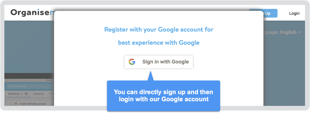 Integration with Google Sign in