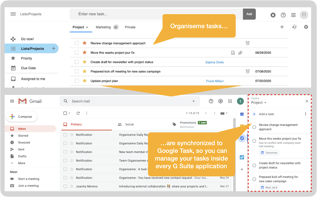 Integration in Google Task
